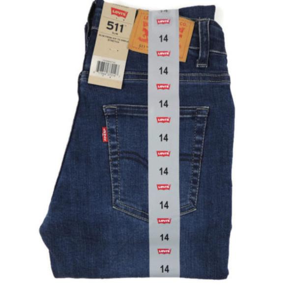 4fc641fd241 Levi's Bottoms | Levis 511 Slim Fit Denim Blue Jeans Boys 14 Reg ...